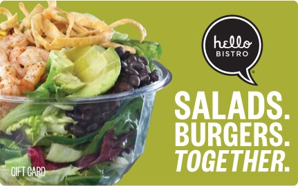 Hello Bistro gift card (salads)